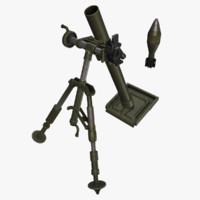 m2 mortar 3d model