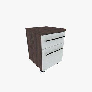 mobile pedestal drawers 3d model