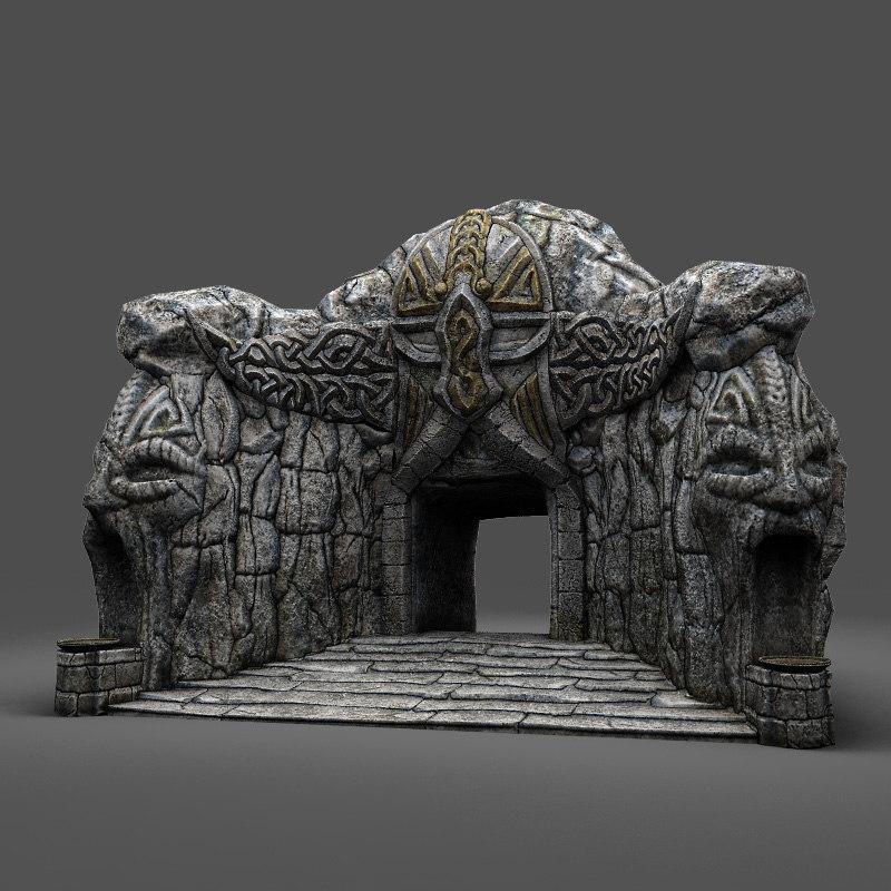cave-entrance cave entrance 3d model