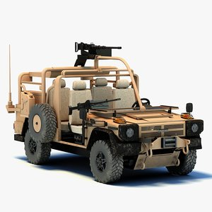 panhard 4x4 vps military vehicle 3d model