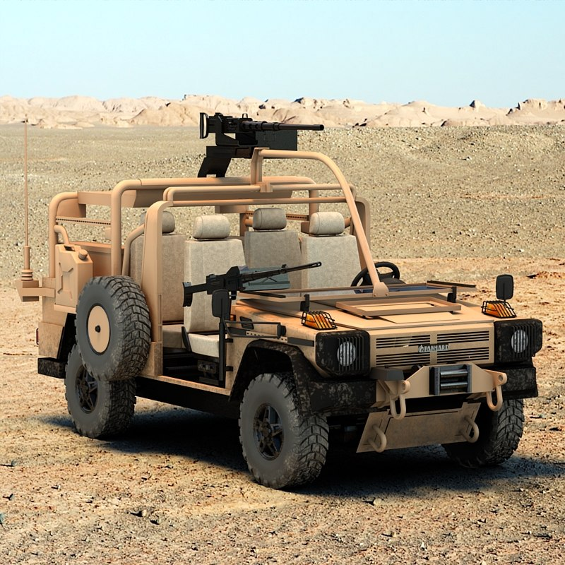 panhard 4x4 vps military vehicle 3d model