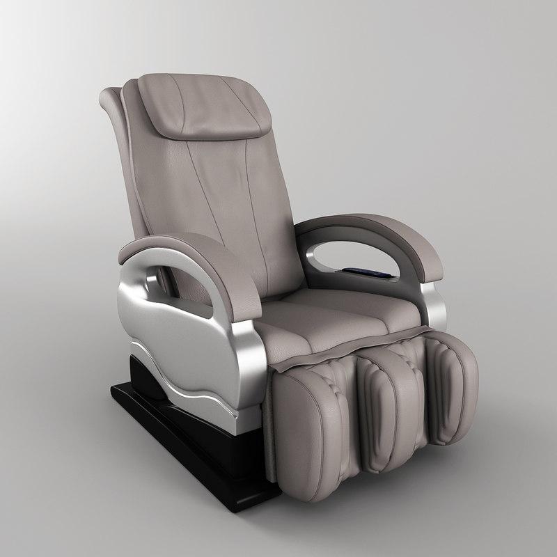 3d massage chair model