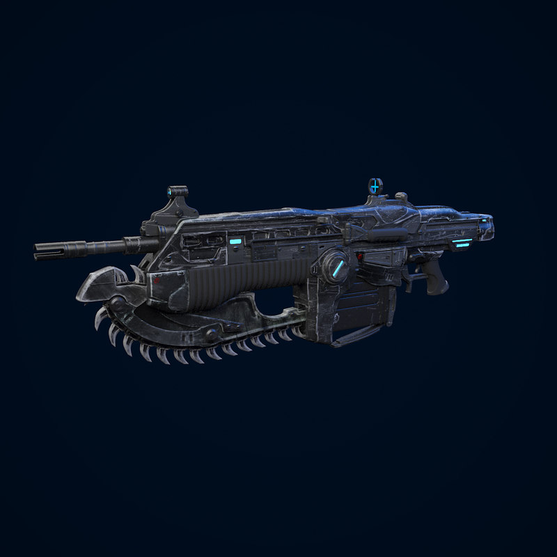3d war assault rifle model