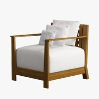 Armchair Wooden 010