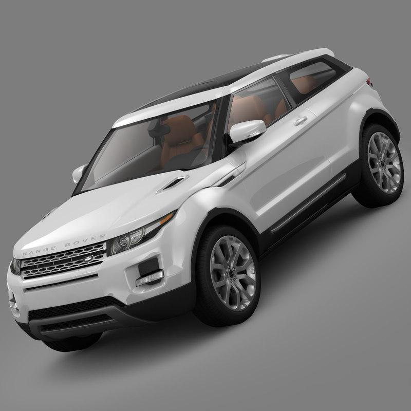 3d land rover range evoque