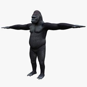 3d ged gorilla model