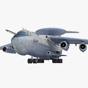 3d model ilyushin rigged plane
