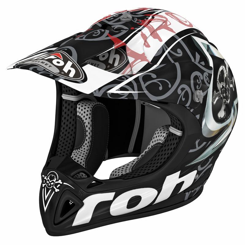 3d 3ds motocross helmet airoh stelt