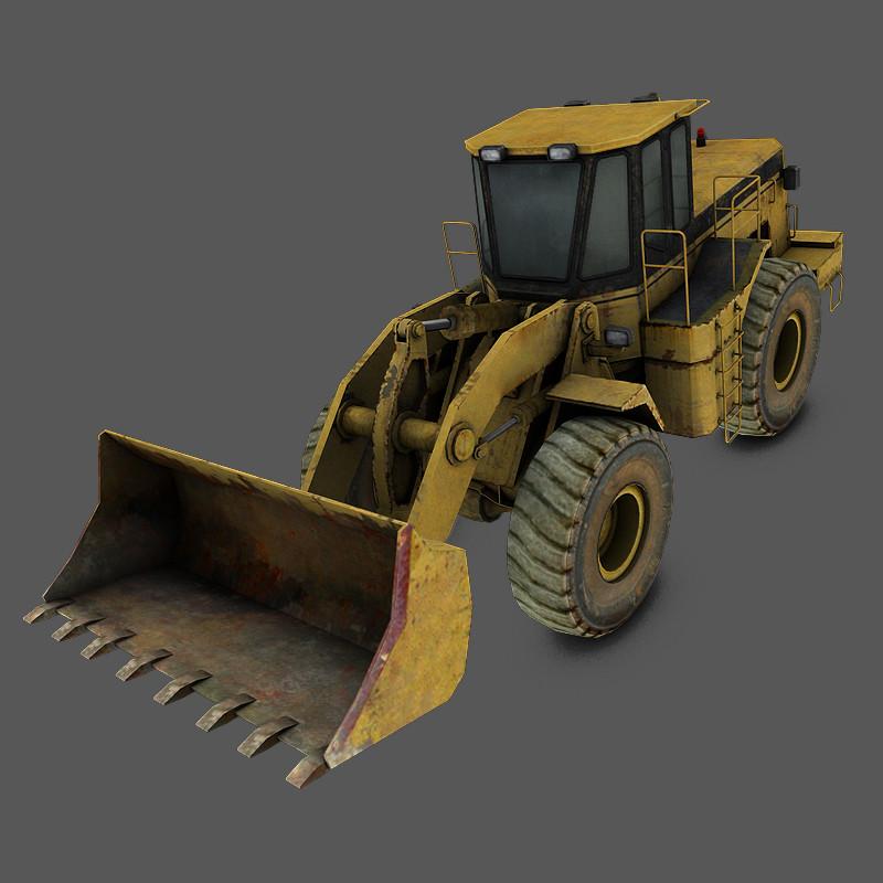 open pit loader obj