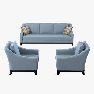 3d model baker neue sofa chair