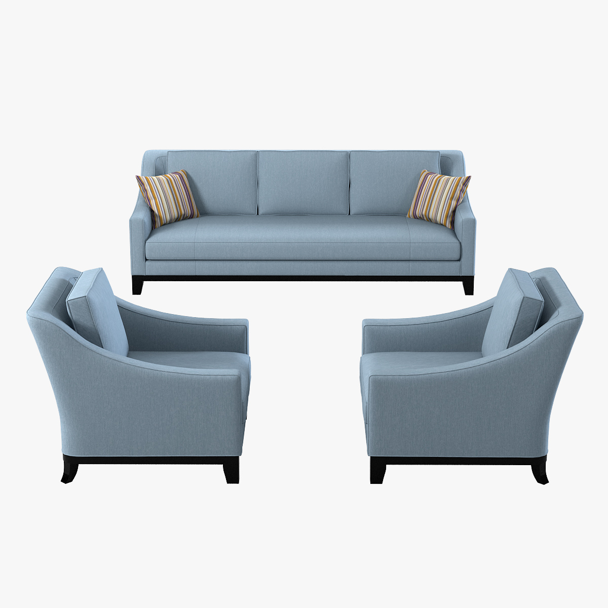 Baker Neue Sofa Chair Set