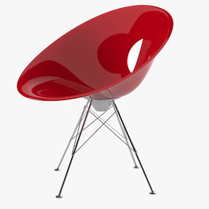 3d kartell eros chair philippe