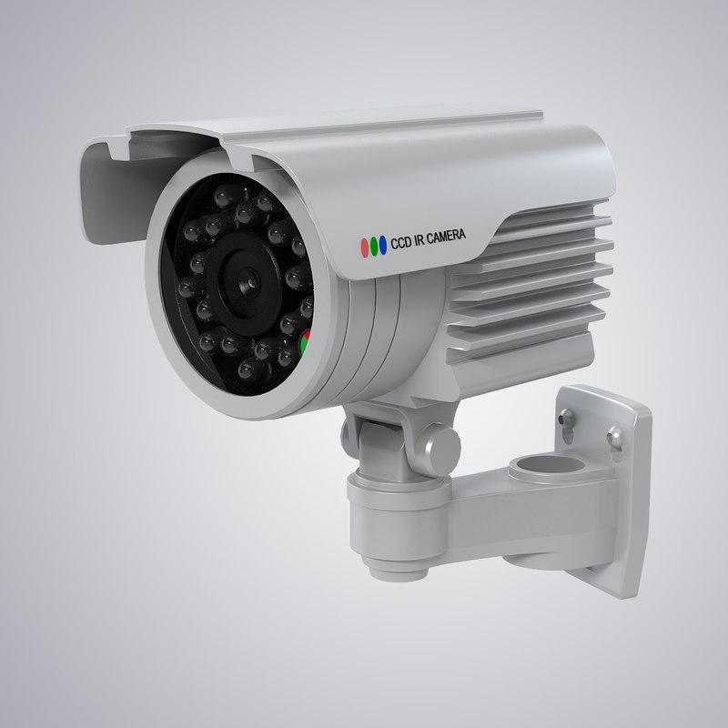 waterproof surveillance camera 3d model