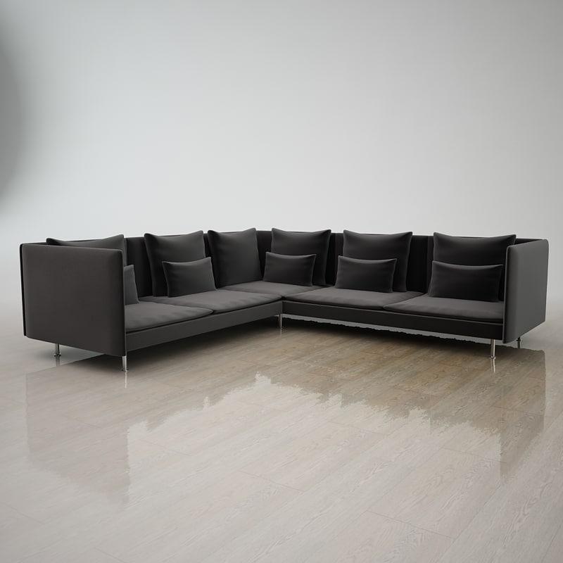 3dsmax corner sofa