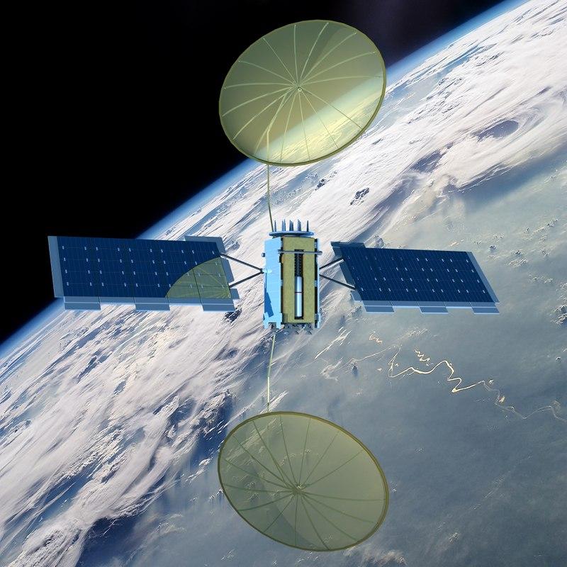 3d muos-2 tactical satellite model