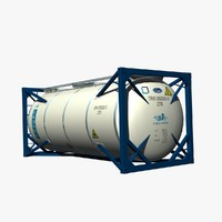 3d 20ft tank container
