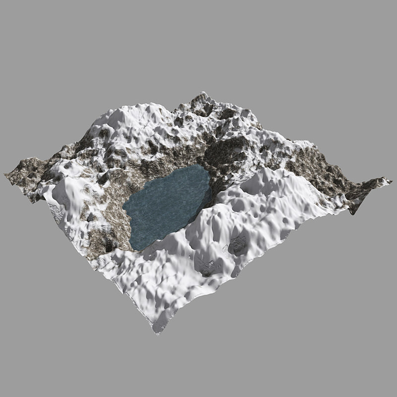 3d c4d snowy mountain