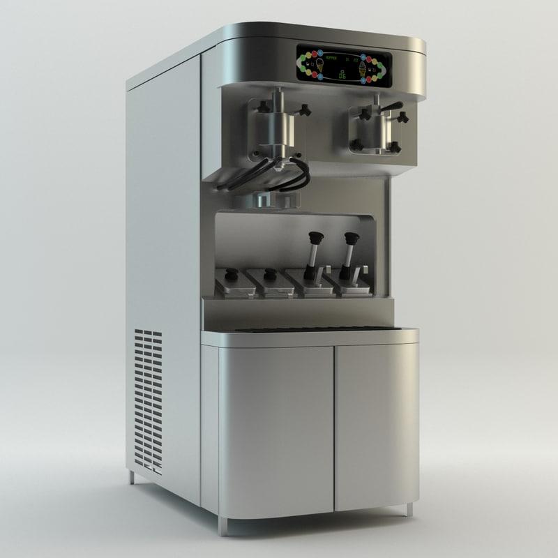 ice cream machine 3d model