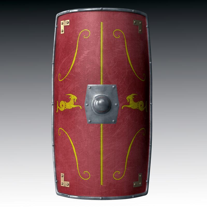 obj roman shield