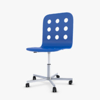 3d ikea jules swivel chair model