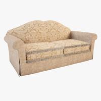 3dsmax double sofa capriccio