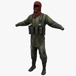 guerrilla soldier clothes 3d model