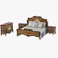 Armando Rho A 914 A 915 A 932 Classic Baroque Bedroom Set