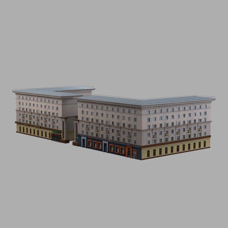 3d ussr civil building model