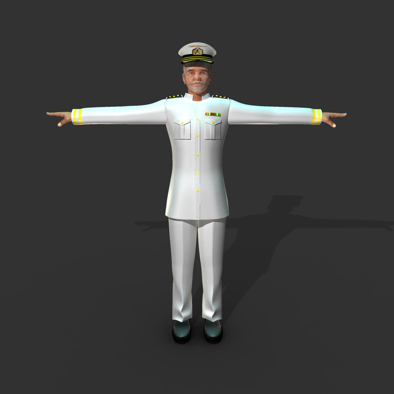 rigged captain 3d x