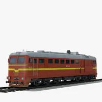 m62 diesel locomotive 3d 3ds