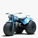 three-wheeler ATV 3D models