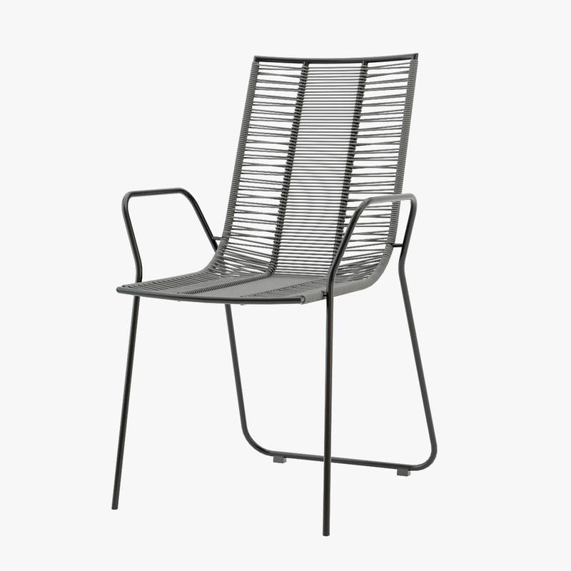 3d model of elba chair