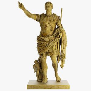 statue augustus prima porta 3d model