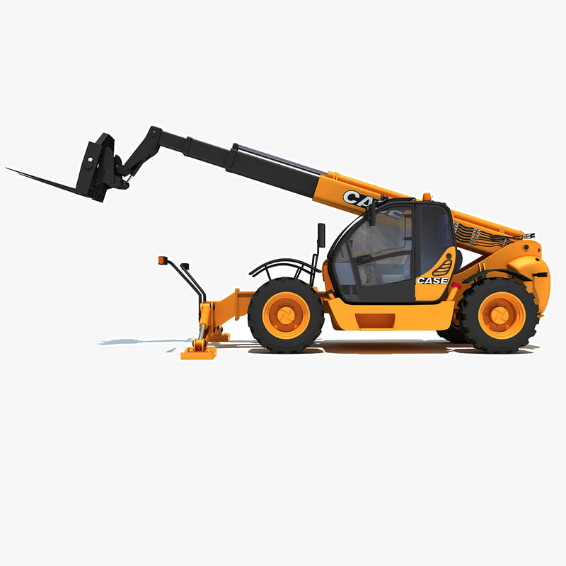3d model case telescopic handler