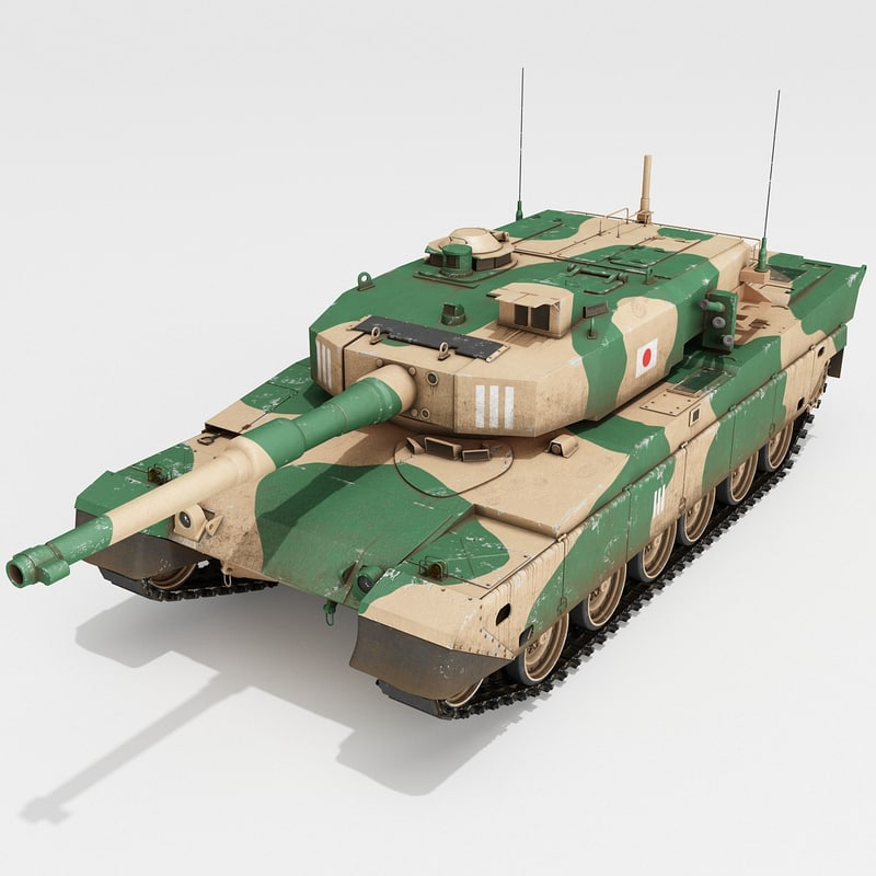 3d model japanese main battle tank