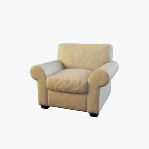 3d max classic armchair