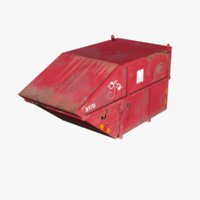 Container Metal Red