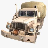 military truck desert 3d model