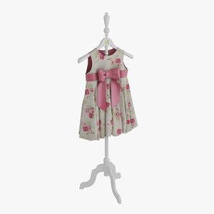 dress pink hanger 3d max