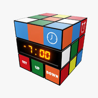 3d model cube clock