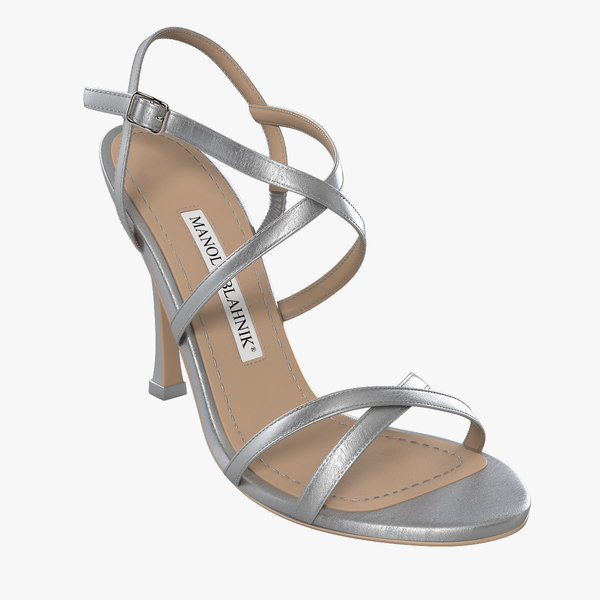 manolo blahnik shoes 3d model
