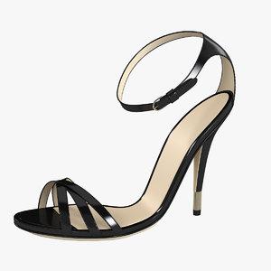 3d dolce gabana lady shoes model