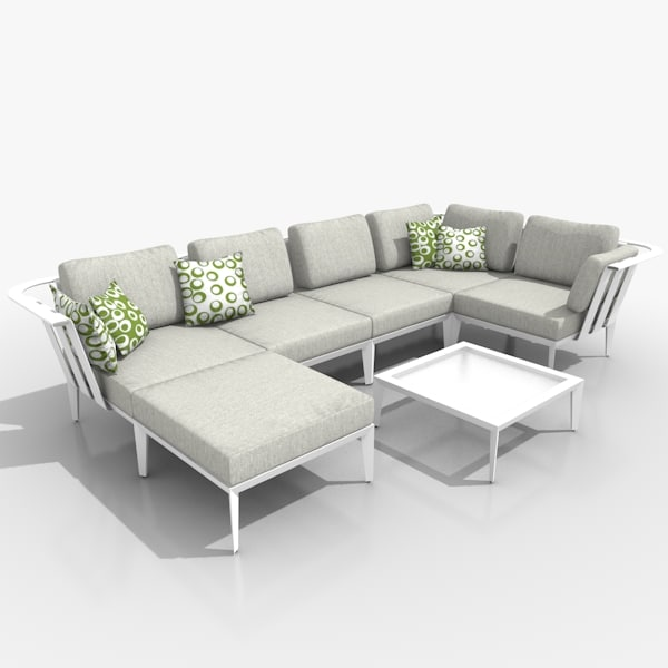 3d casual lounge furniture set