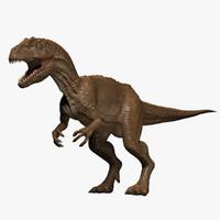 3d allosaurus fragilis dinosaur