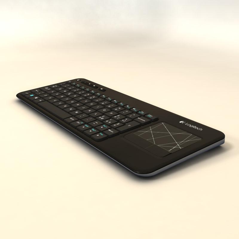 logitech less keyboard k400r obj