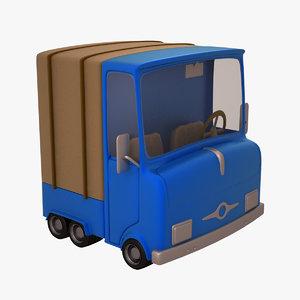 3d truck cartoon