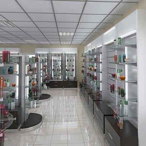 3d model shop cosmetic
