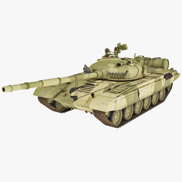 3d obj soviet union t-72 main