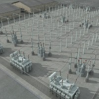 3d electrical substation scene