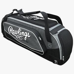 3d baseball equipment bag